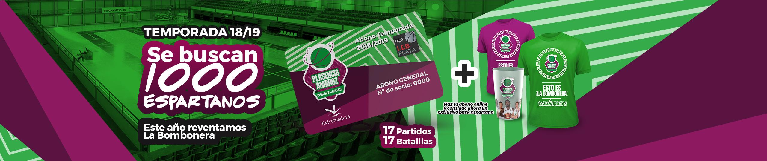 Consigue tu abono online del club de baloncesto Plasencia-Ambroz